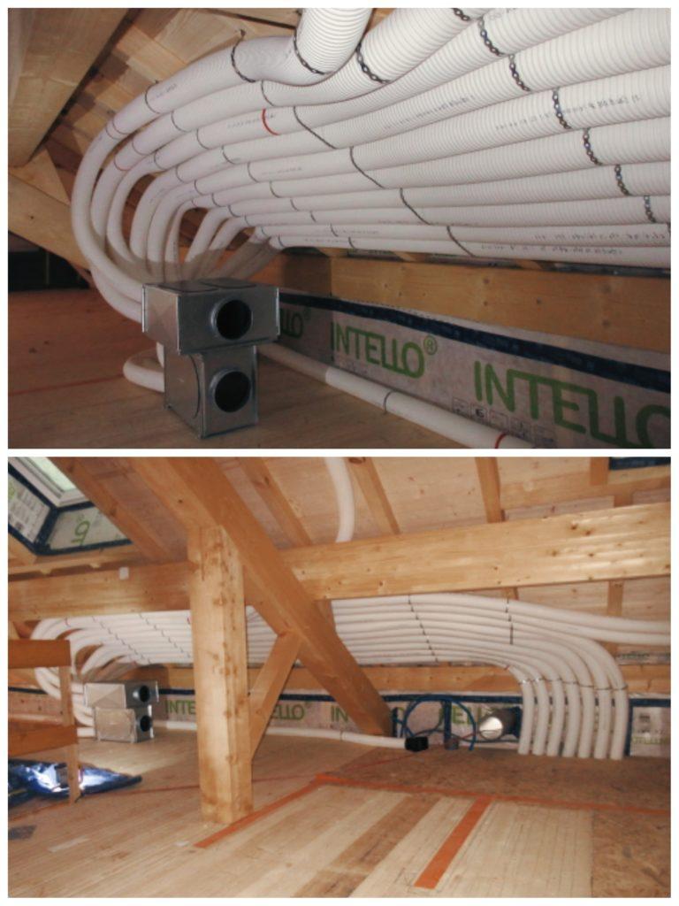 réseau VMC gaines maison ossature bois
