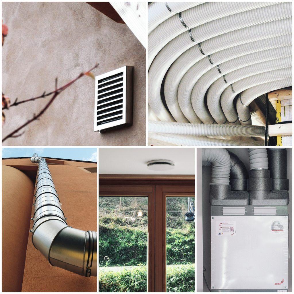 VMC double flux ventilation gaines centrales
